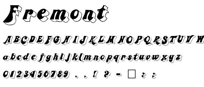 Fremont font