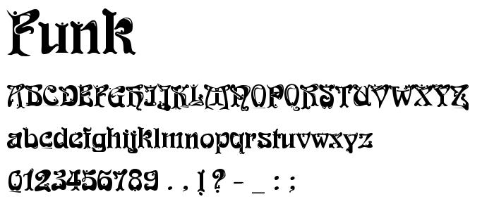 Funk font