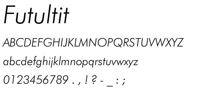 Futultit font