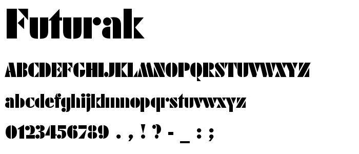 Futurak font