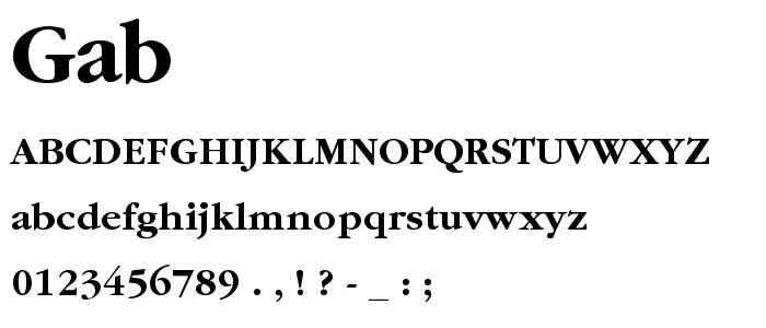 Gab font