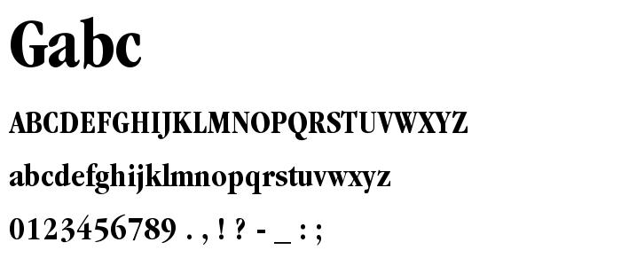 Gabc font
