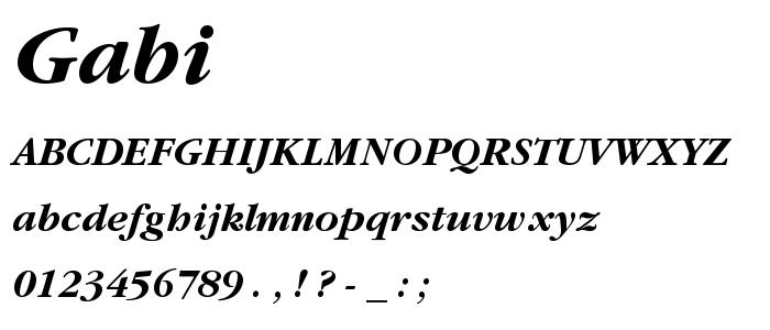 Gabi font