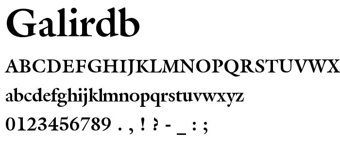 galirdb.ttf font