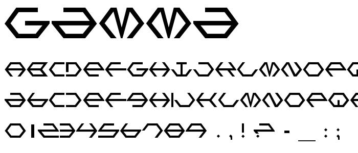 Gamma font