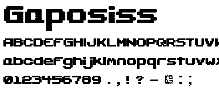 Gaposiss font
