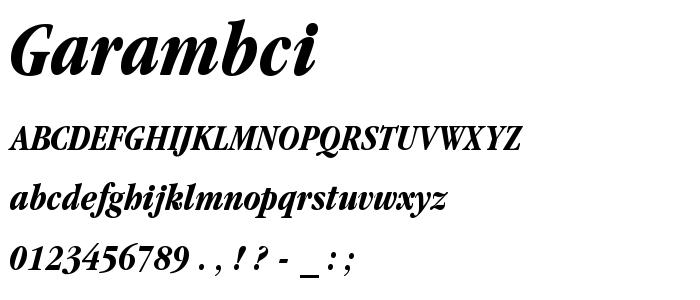Garambci font