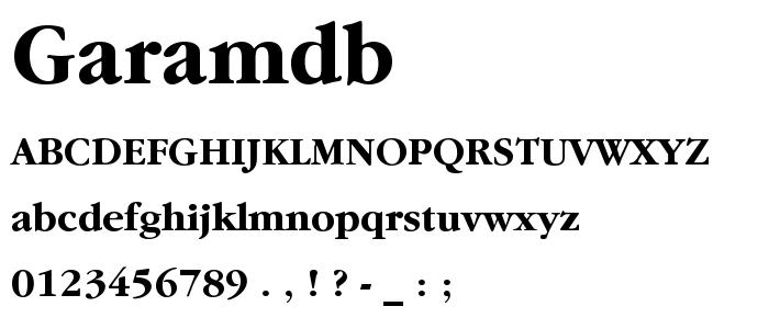 Garamdb font