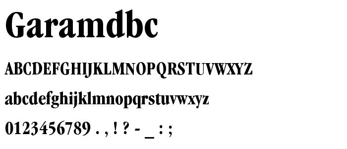 Garamdbc font