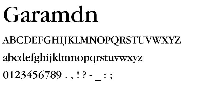 Garamdn font