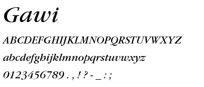 Gawi font