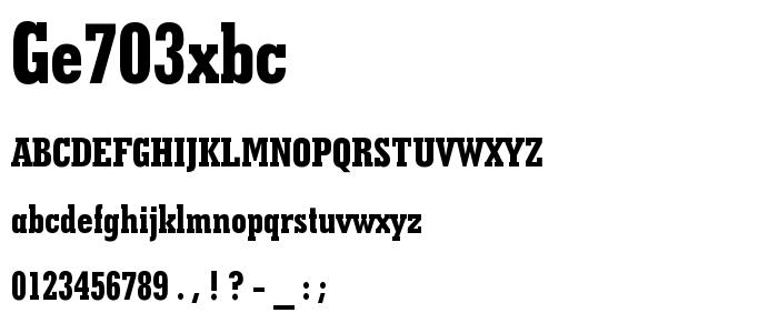 Ge703xbc font