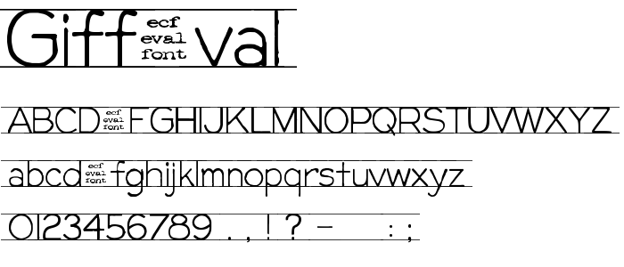 Giffeval font