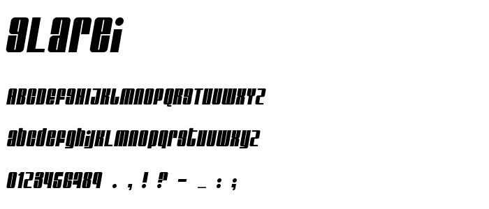 Glarei font