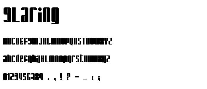 Glaring font