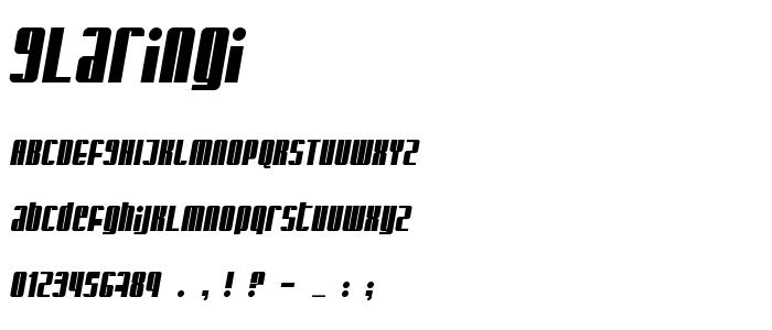 Glaringi font