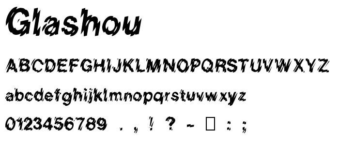 Glashou font