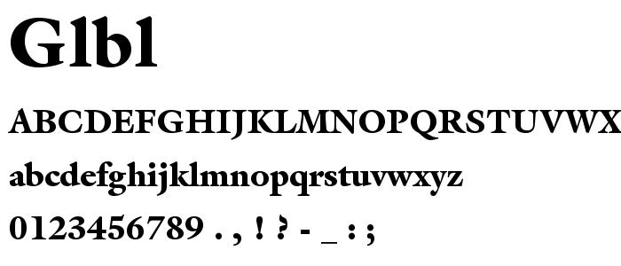 Glbl font