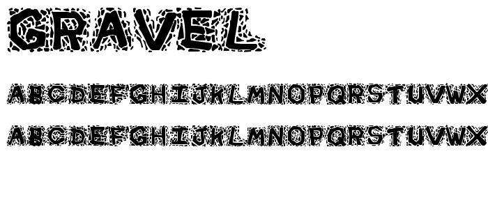 Gravel font
