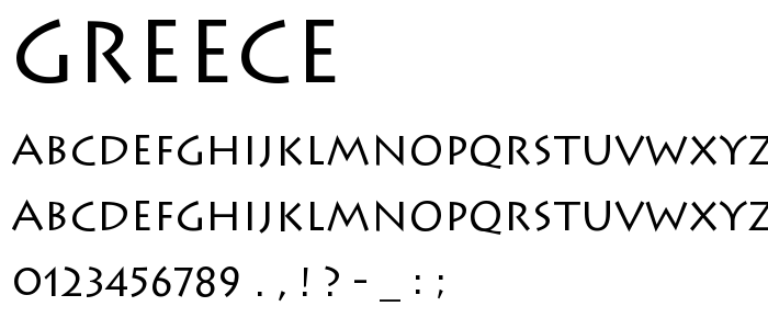 Greece Free Font Download - Font Supply