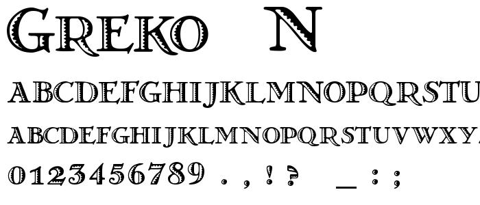 Greko  N font