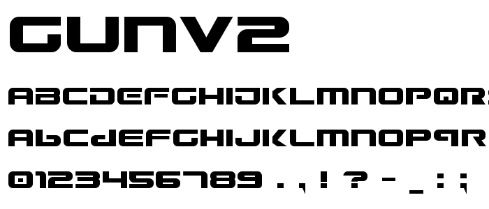 Gunv2 font