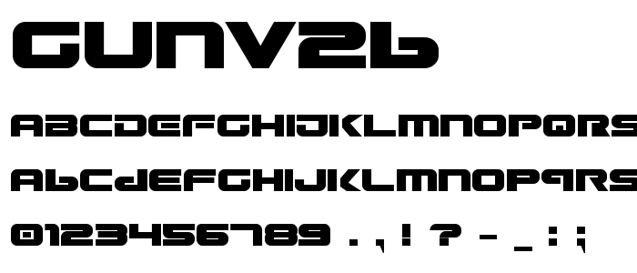 Gunv2b font