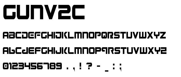Gunv2c font