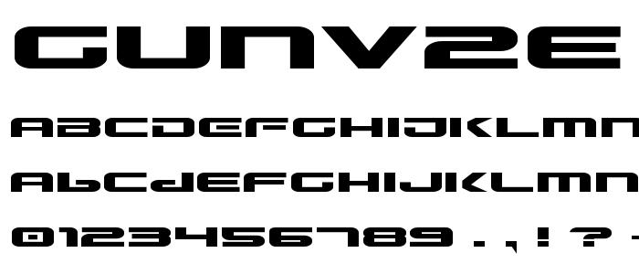Gunv2e font
