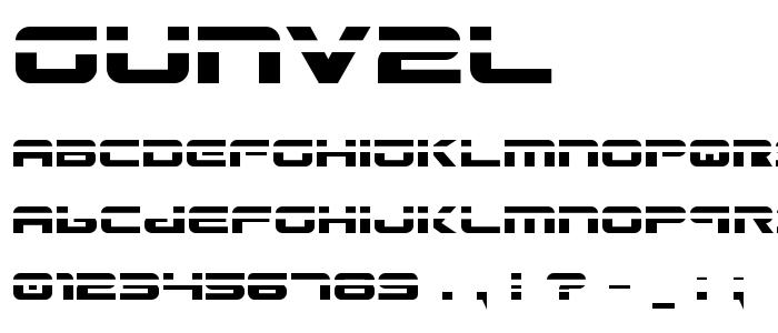 Gunv2l font