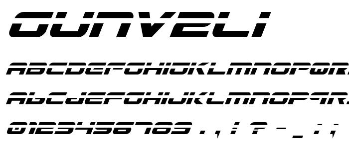 Gunv2li font