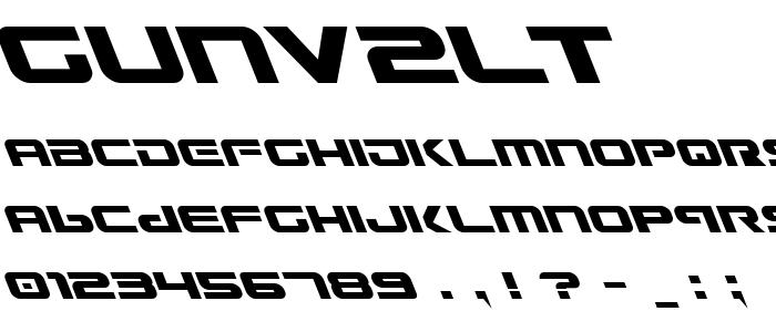 Gunv2lt font