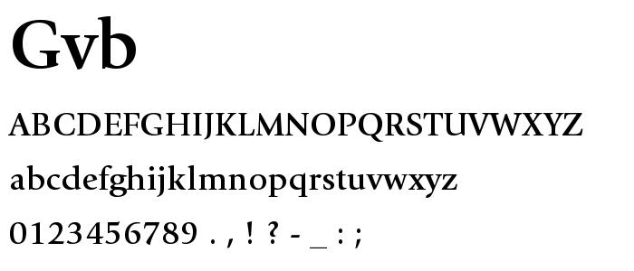Gvb font