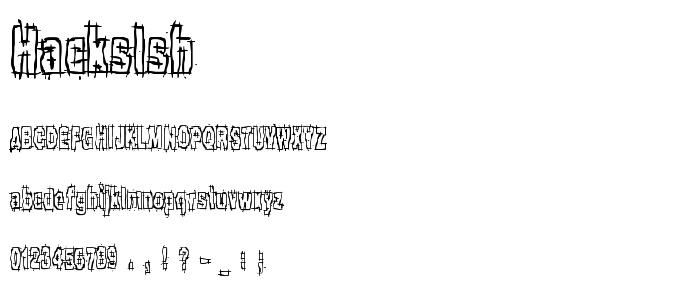 Hackslsh font