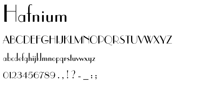 hafnium.ttf font