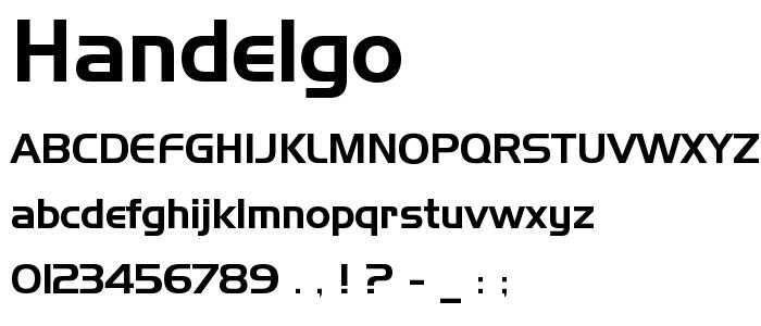 Handelgo font