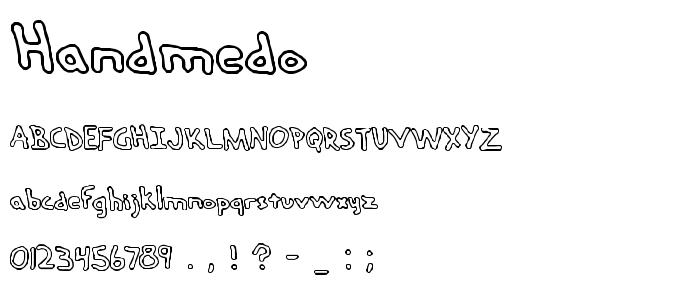 Handmedo font