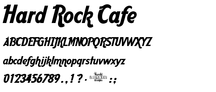 Hard Rock Cafe Cafe Font