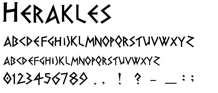 Herakles font