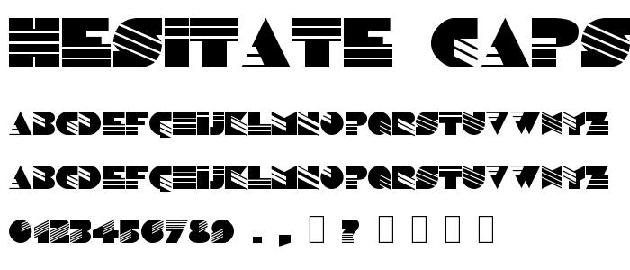 Hesitate Caps font