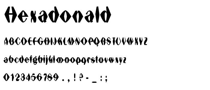 Hexadonald font