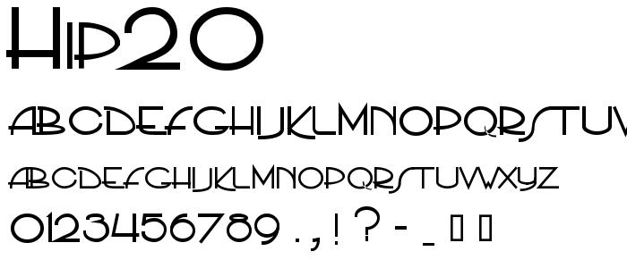 Hip20 font