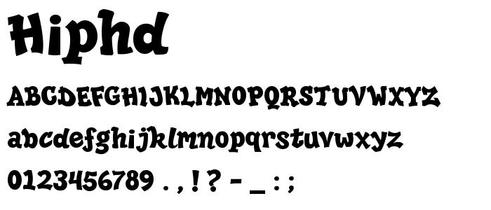 Hiphd font
