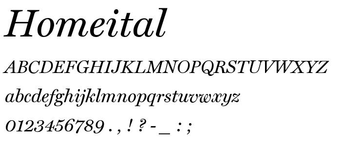 Homeital font