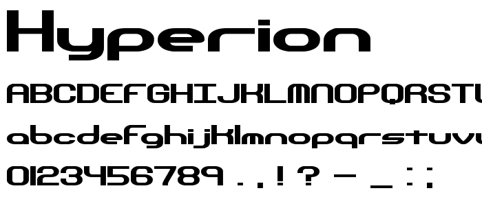 Hyperion font