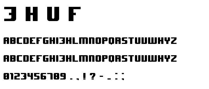J H U F font