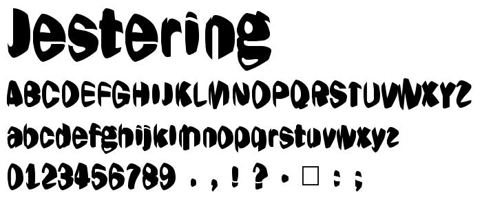 Jestering font