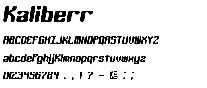 kaliberr.ttf font