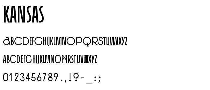 Kansas font