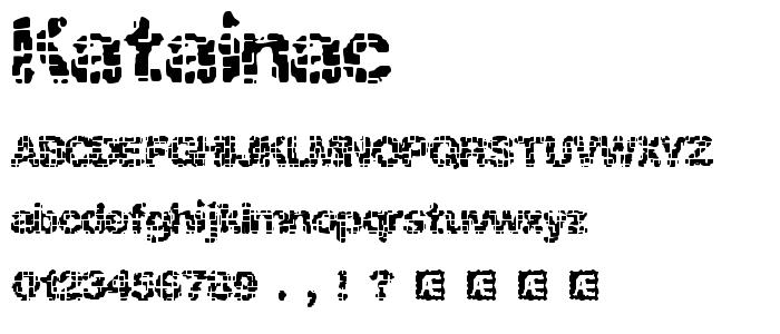 Katainac font